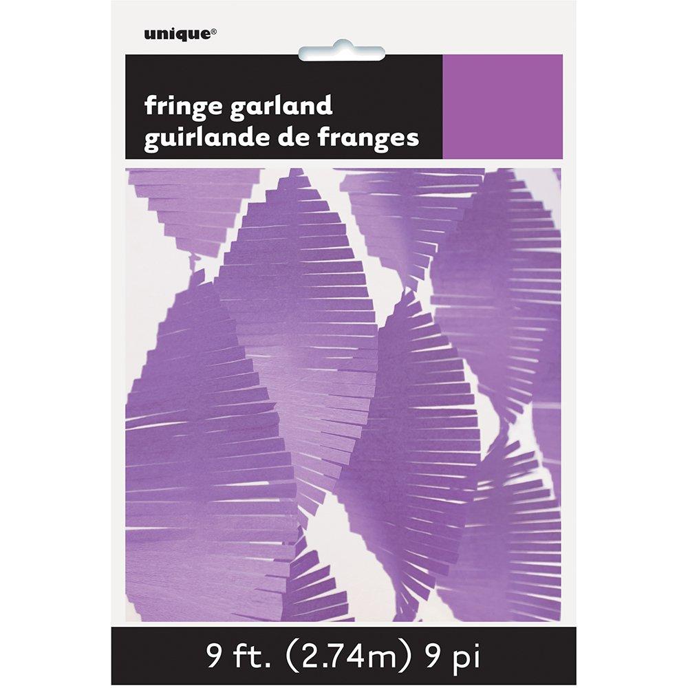 9ft Purple Tissue Paper Fringe Garland