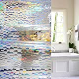 #10: 55W x 72L EVA Shower Curtain, Wimaha 55 inch Width Shower Stall Liner Mildew Resistant Eco-friendly, Colorful, 55 by 72 inch