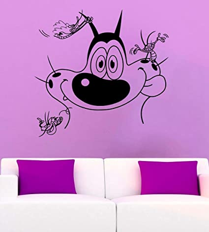 Amazoncom Wall Decor Oggy And The Cockroaches Wall Decal