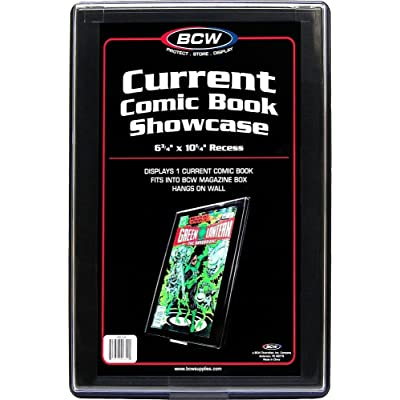 """CURRENT AGE Comic Book Showcase Display Case NEW 6 3/4"""" x 10 1/4"""" recess: Toys & Games"""