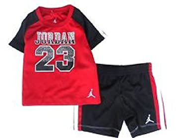 890e8322d265 Image Unavailable. Image not available for. Color  Nike Jordan Baby Boys   Air Jordan 23 2-Piece Shirt   Shorts Set 12M