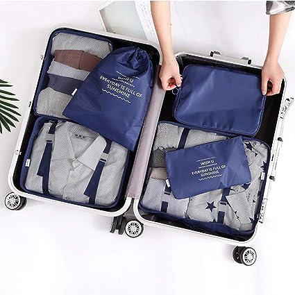54d382d0b51a Amazon.com: U2C 6 PCS Packing Cubes Travel Luggage Organizers Set ...