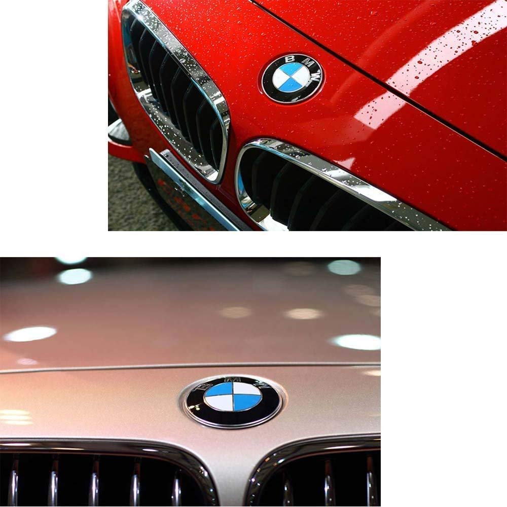 74mm BMW Logo Replacement for BMW E46 E30 E36 E34 E38 E39 E60 E65 E90 325i 328i X3 X5 X6 3 4 5 6 7 8 82mm BMW Emblems Hood and Trunk