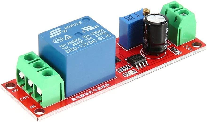 DC 12 V NE555 Relais Monostable Retard Circuit Module De Conduction D/éclencheur Switch Minuterie R/églable Time Shield Electronics Arduino