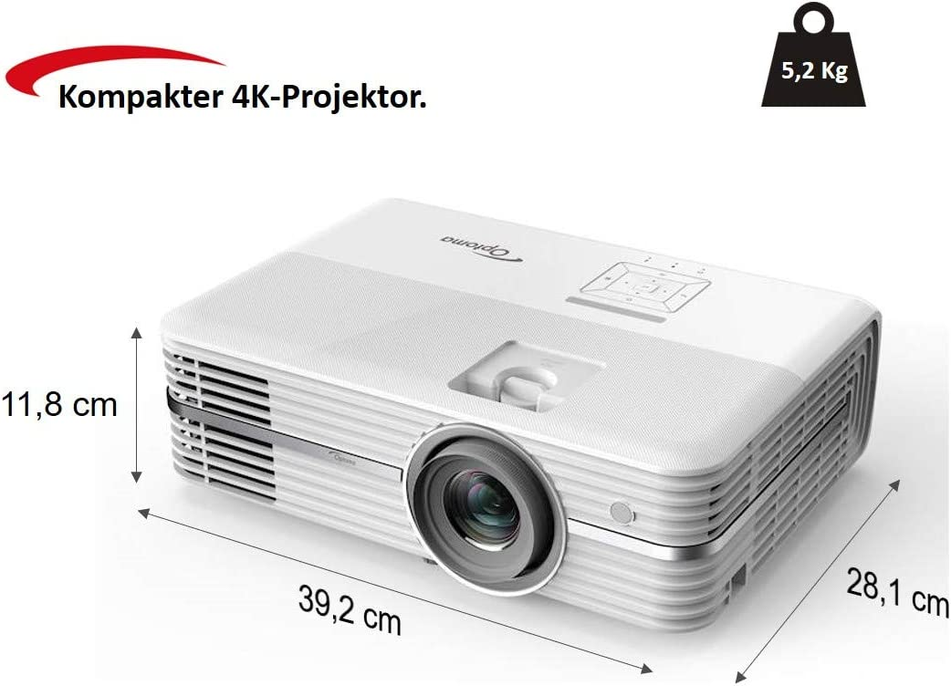 Optoma Technology UHD300X, Proyector 4K Home Cinema Ultra HD, 3600 ...