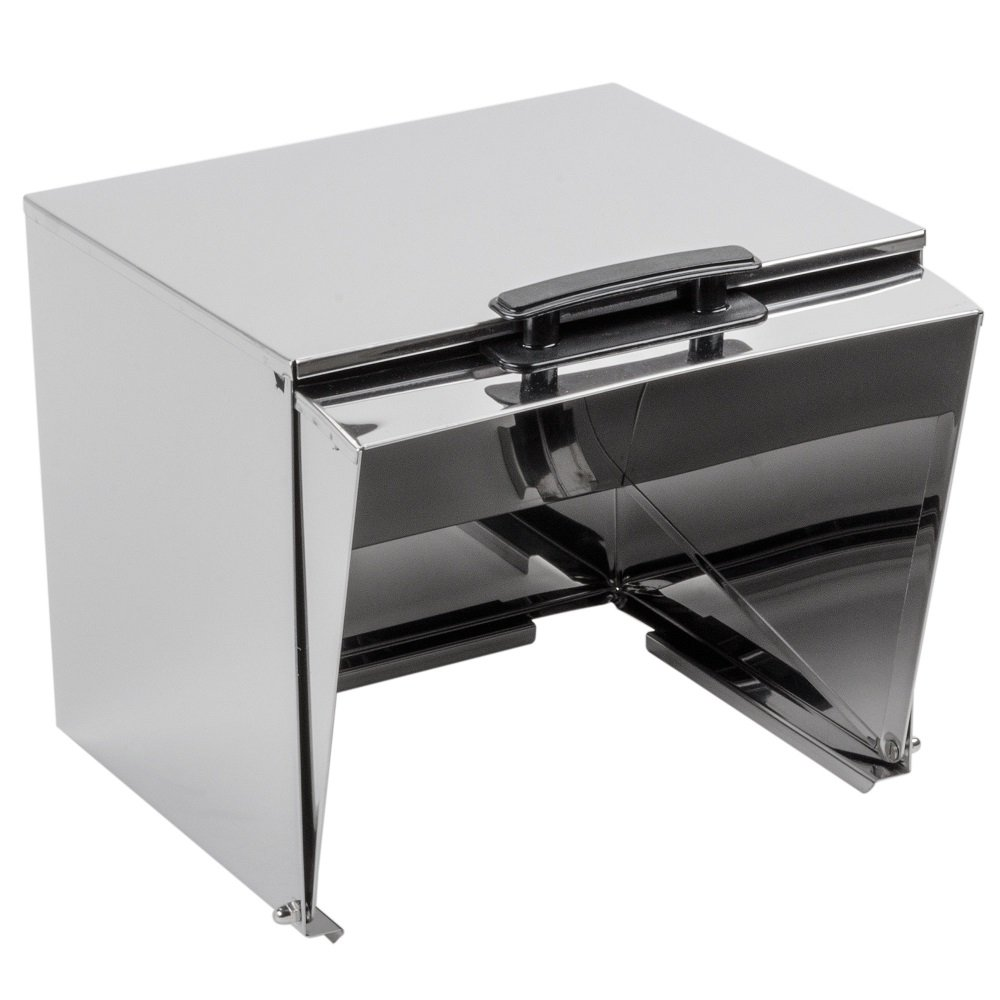 Roll Top Cover for Full-Size Steam Table Pan, Metal, 15.5'' x 14.3'' x 14.2'', Stainless Steel, Commercial Grade by Royal Industries (Image #4)