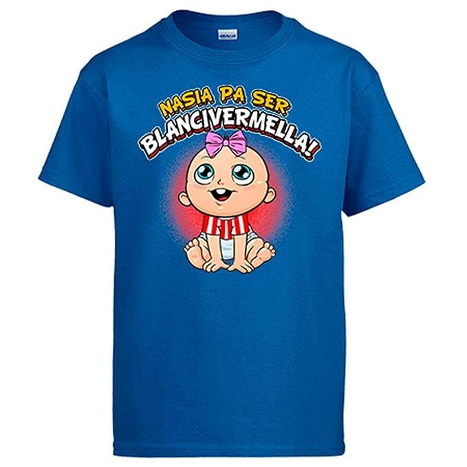 Camiseta nacida para ser Blancivermella Girona fútbol: Amazon.es: Ropa y accesorios