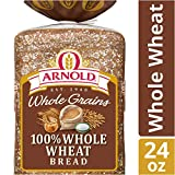 Arnold whole grains 100%, whole wheat sliced bread, 24 Ounce