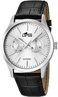db947550c8d8 Lotus Reloj Analógico para Hombre de Cuarzo con Correa en Cuero 15956 1