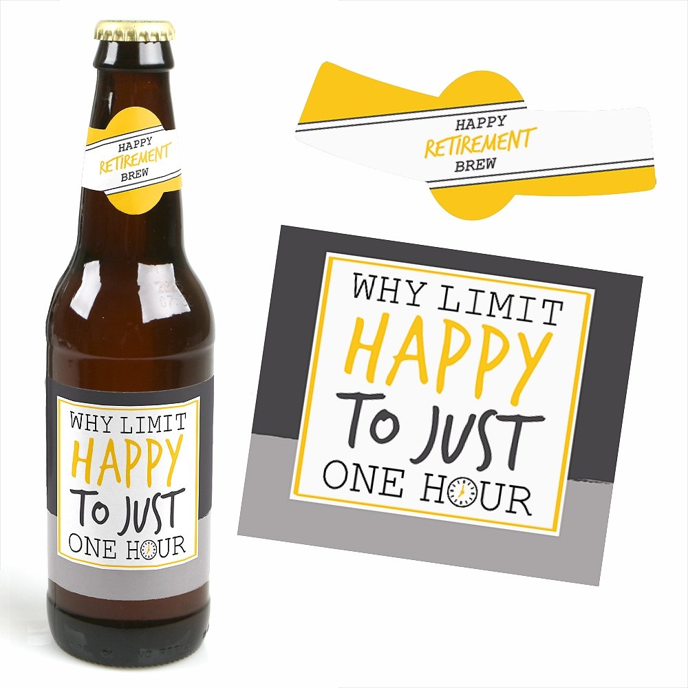 Amazon.com | Retirement Party - 6 Beer Bottle Labels and 1 Carrier ...