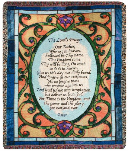 (Manual Inspirational Collection 50 x 60-Inch Tapestry Throw, The Lords Prayer)
