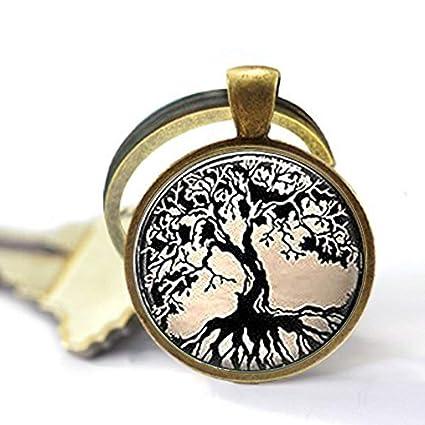 Llavero de cristal, llavero de árbol de la vida, llavero de ...