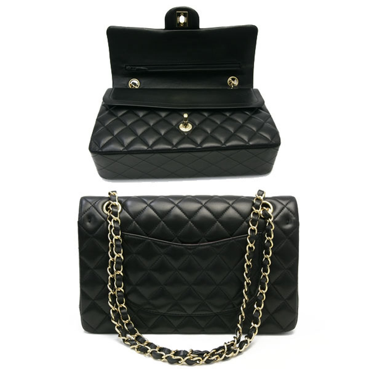 Amazon.com  CHANEL Lambskin Classic Flap Bag with Gold Chain  Shoes 0f4346060