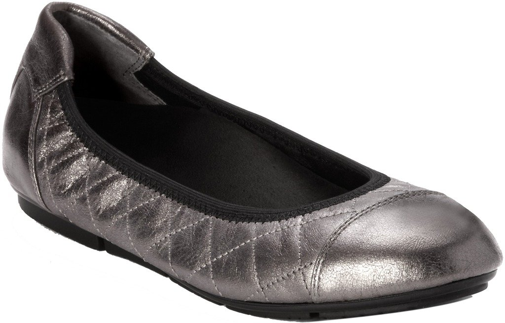 Vionic Ava Womens Ballet Flats Pewter - 8 Medium by Vionic (Image #1)