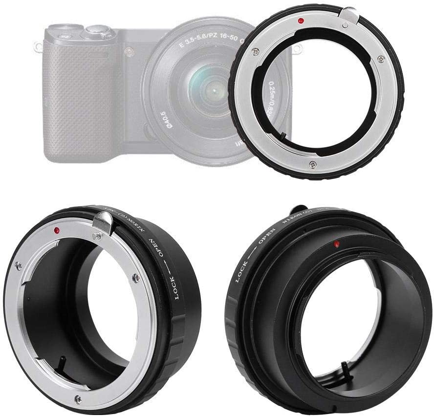 Lens Mount Adapter Ring,Professional Manual Control Lens Adapter,Lens Mount Adapter for Nikon F//AI//AIS//G Lens,for Sony NEX Mirrorless Camera.