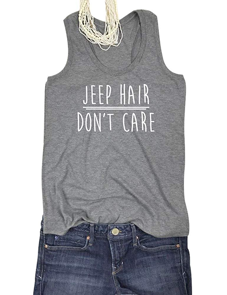 SCX Women Jeep Hair Don't Care Tank Tops T Shirts Blouses