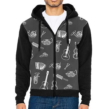 20c2e832f5fb Amazon.com  CHAN03 Brilliant Violin Men s Hoodie Hooded Sweatshirt Pocket   Clothing