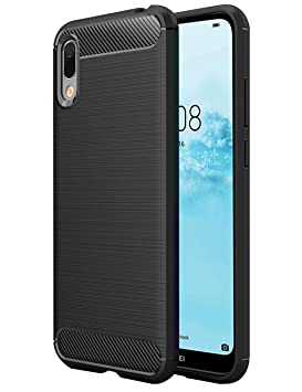 TTVie Funda para Huawei Y6 2019, Carcasa Caso Cubierta de Protección de TPU Silicona con Textura de Fibra de Carbono para Huawei Y6 2019 Smartphone ...
