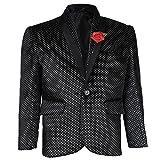 AJ Dezines Kids Party Wear Blazer for Boys (BLAZER_04_BLACK_16)
