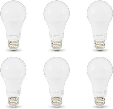 Basics 100 Watt 10,000 Hours Non-Dimmable 1500 Lumens LED Light Bulb Pack of 16 Daylight