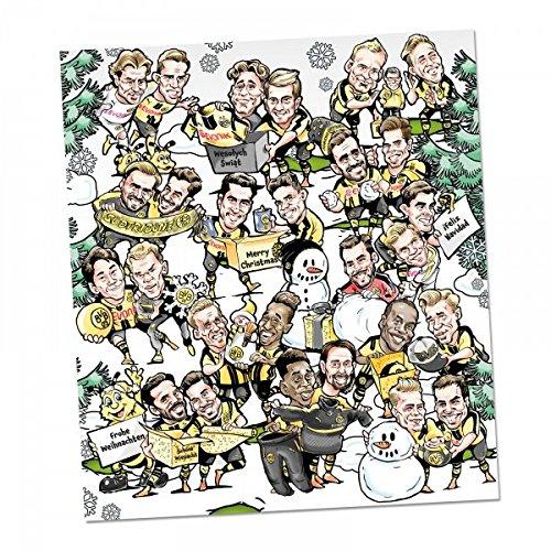 BVB Borussia Dortmund COMIC - ADVENTSKALENDER 2016 / 2017 incl. Autogrammkarten und Gewinnspiel