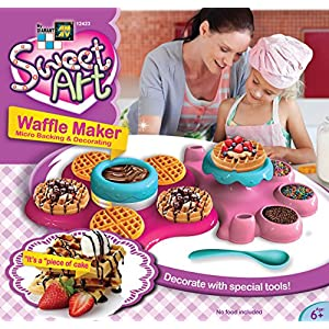AMAV Belgian Waffle Maker Toy Activity Set Using Microwave Baking - DIY Make Your Own Delicious Treat - Edible Sweet Art