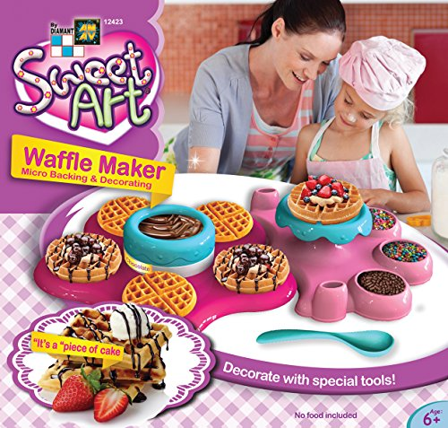 AMAV Belgian Waffle Maker Toy Activity Set Using Microwave Baking - DIY Make Your Own Delicious Treat - Edible Sweet Art