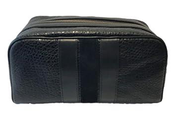 7770870c12 Amazon.com   Coach Leather Varsity Stripe Travel Dopp Kit Toiletries Bag in  Black 21387   Beauty