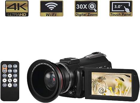 WXJHA Cámara de vídeo cámara 4K 1080P 24MP cámara Full HD 3