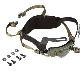 Tbest Taktische Helm Zubeh/ör f/ür Fast Helm Einstellbare Helm Liner Kit Head Locking Kinnriemen f/ür Outdoor Tactical Helmets mit Schrauben und Schrauben