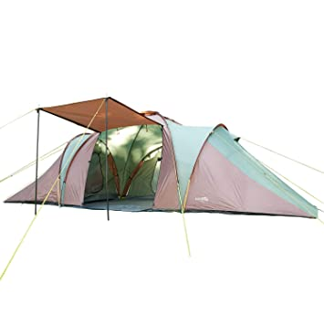 7435f64126d0b0 Skandika Daytona Family Camping Tent with 3 Sleeping Rooms and Sun Canopy  Porch