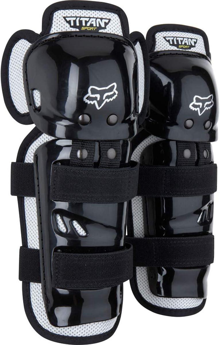 New Fox Racing Adult Black Titan Race Knee//Shin Guards For MX /& Off-Road Riding
