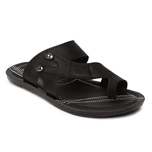 7a2a14b840a6 PARAGON Men s Black Flip-Flops-8 UK India (42 EU) (PU66001G)  Buy Online at  Low Prices in India - Amazon.in