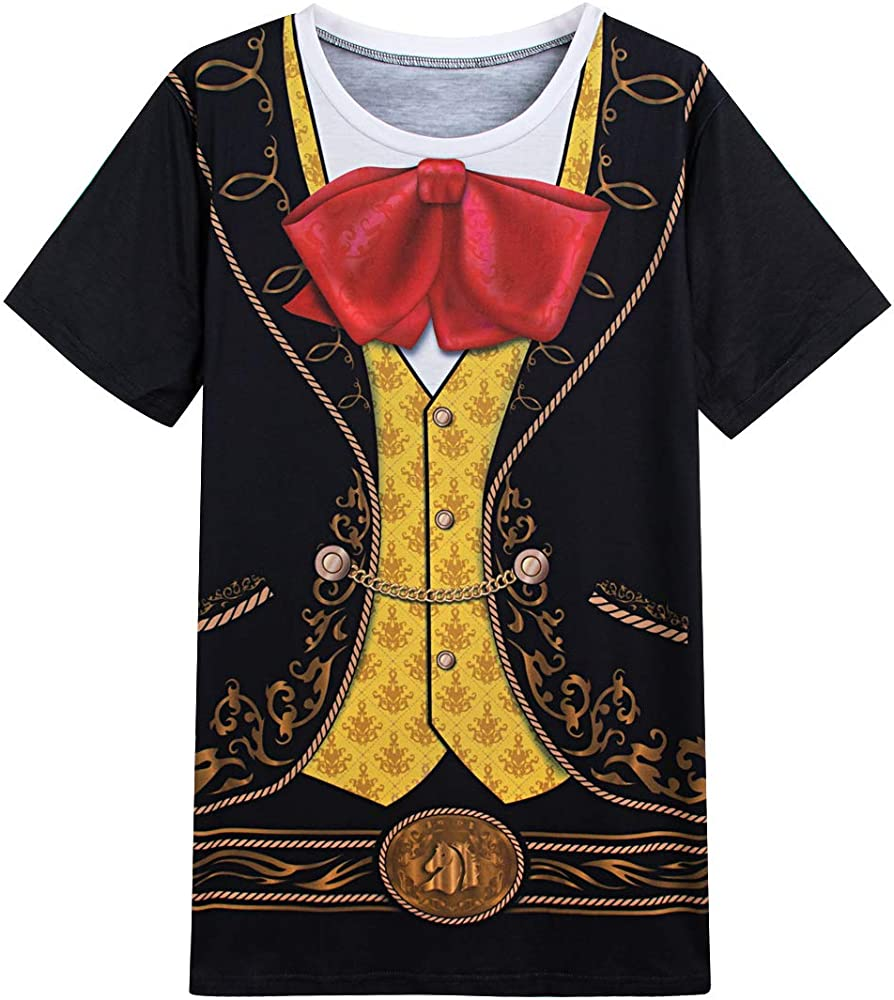 COSAVOROCK Disfraz de Mariachi México para Hombre Camiseta ...