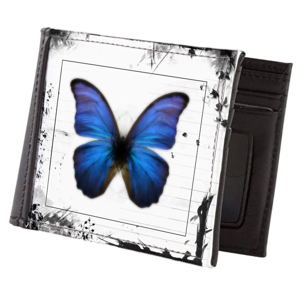 Royal Lion Mens Wallet Billfold Blue Butterfly Still Life