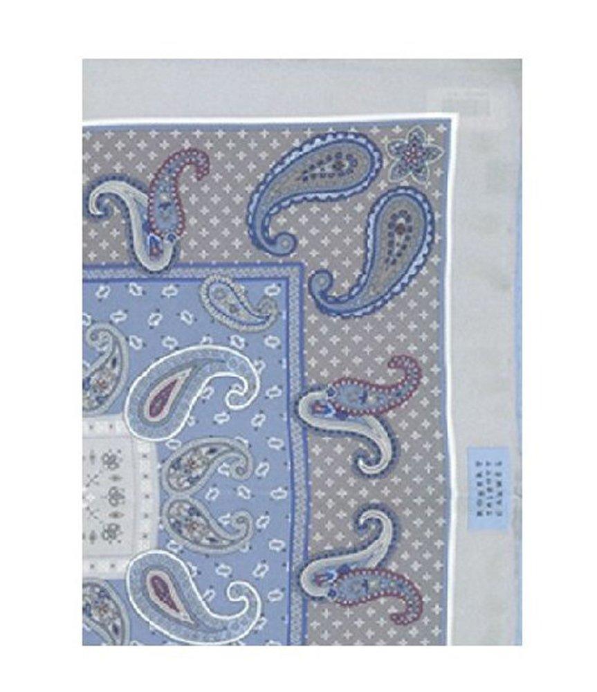 Robert Talbott Grey Handrolled Pocket Square 16.5''