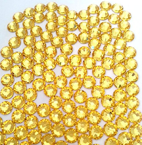 LIGHT TOPAZ Crystal Rhinestones Flatback 36 SWAROVSKI 6.4mm 30ss - Ss30 Light