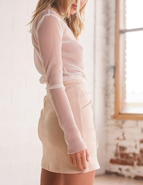 Faldas Mujer Bandage Gamuza Talle Alto Una Línea Faldas Ropa Dama Moda  Fashionista Cortas Elegantes Vintage Color Sólido Stretch Falda Recta   Amazon.es  ... 148304b1b3e0