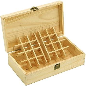 Caja de almacenamiento con compartimentos florales, caja de madera ...