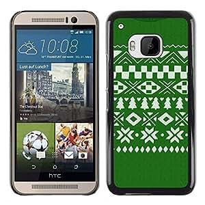 iKiki Tech / Estuche rígido - Pattern Christmas Green White - HTC One M9