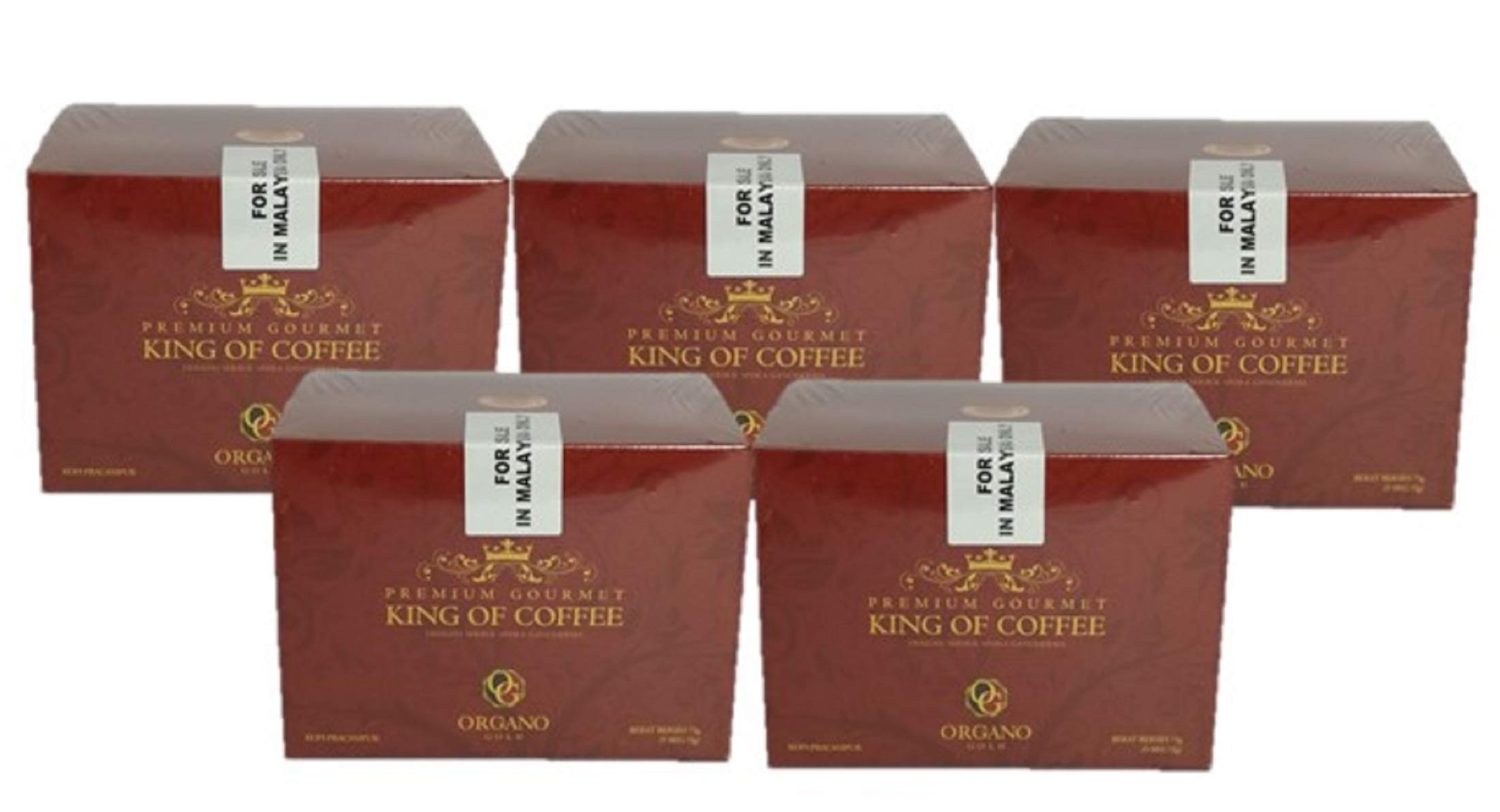 Organo Gold 5 Boxes Ganoderma Gourmet - Gourmet King Coffee (25 sachets)