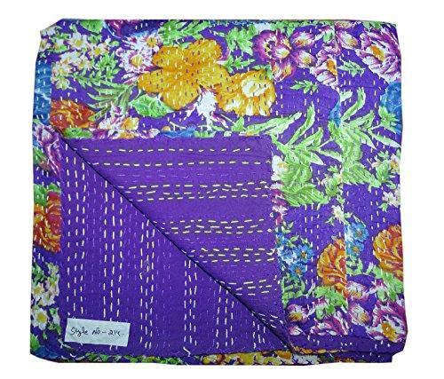 Bedcover Hobo Cotton Quit Bhavya Floral Handmade Single Indian Kantha International Ralli Blanket Bohemian Gudari w7AFxAqf1v