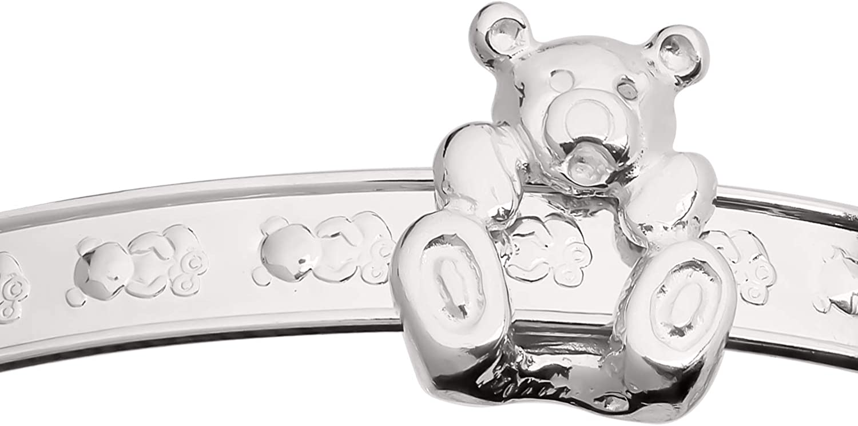 Dolce Valentina 925 Sterling Silver Newborn Baby Bracelet Sliding Teddy Gift Expandable Adjustable Fit