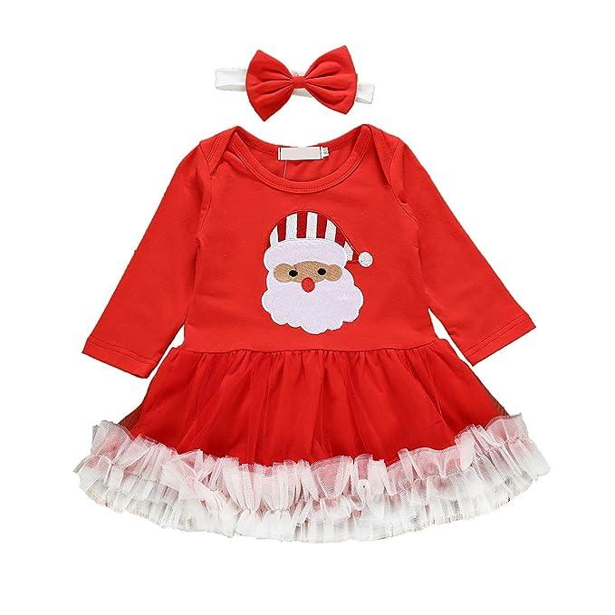 Haokaini bebé niñas Navidad Santa Claus Vestido Diadema ...