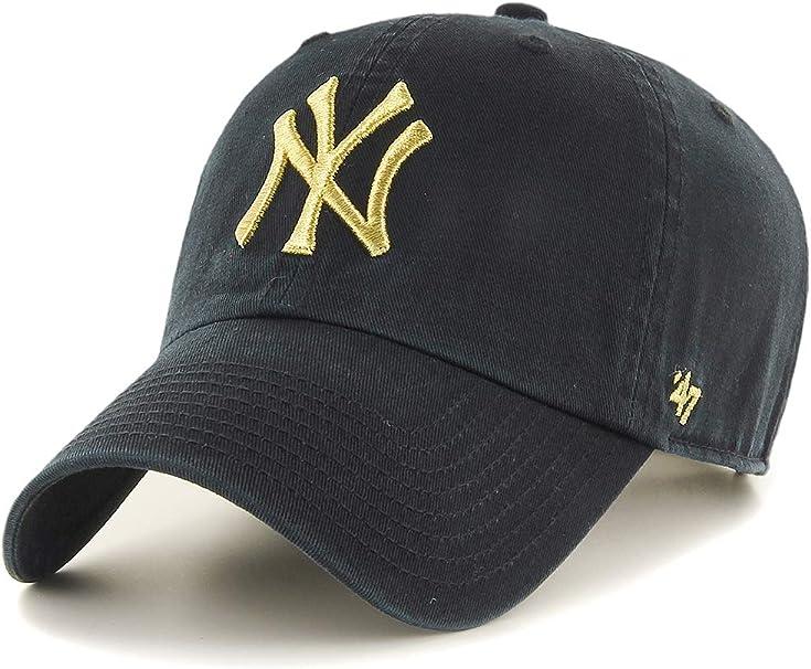 MLB White Gold Snap back Cap Metallic Logo Adjustable Limited NY Yankees Hat