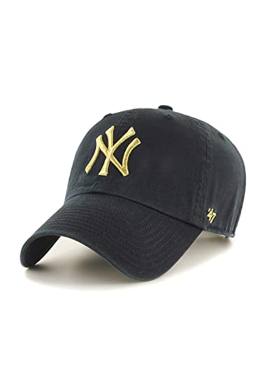 Amazon.com    47 New York Yankees Brand Metallic Clean Up Slouch Fit ... 5e8406f2f61