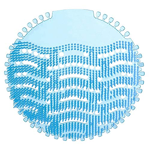 Ikeda scents HonTop Urinal Screens Deodorizer Anti Splash Technology - Fits Most Top Urinal Brands at Restaurants, Office Building, Home, Schools, etc. (10-pack, Blue - Ocean Mist)