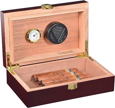 Cave à cigares cèdre espagnol avec humidificateur hygromètre boîte à