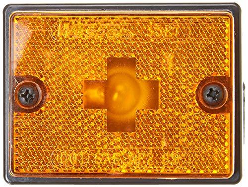 Wesbar Standard Side Marker Reflex Lens (Amber with Black Stud-Mount Base)