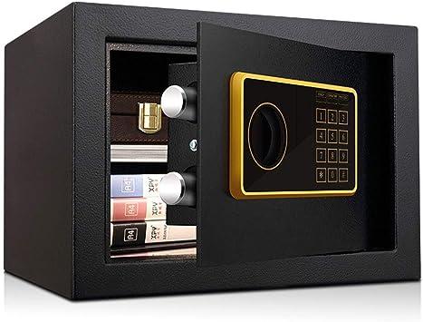 Caja Fuerte Segura Operación de Clave de código de Seguridad electrónica de 1-10 dígitos con partición de eliminación Black Money Box 35 * 30 * 25cm Caja de Almacenamiento: Amazon.es: Electrónica